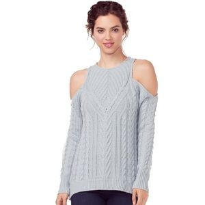 LC by Lauren Conrad | Blue Cold Shoulder Sweater|S